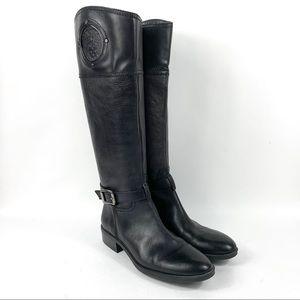 VINCE CAMUTO VC PHILLIE Black Riding Boots Sz 8.5